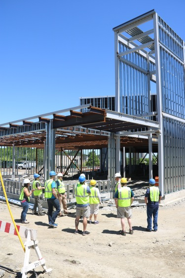 MCST Instructors & Staff enter the main entrance. Many have never stepped foot on the site before.